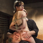 Kimberly kane degrades herself sexually in order to get hired at a prestigious firm. she is tied up and gangbanged by the 4 men interviewing her.